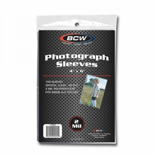 1 Case 5000 BCW 4x6 PhotoSoft Poly Sleeves Acid Free Print Holder Archival