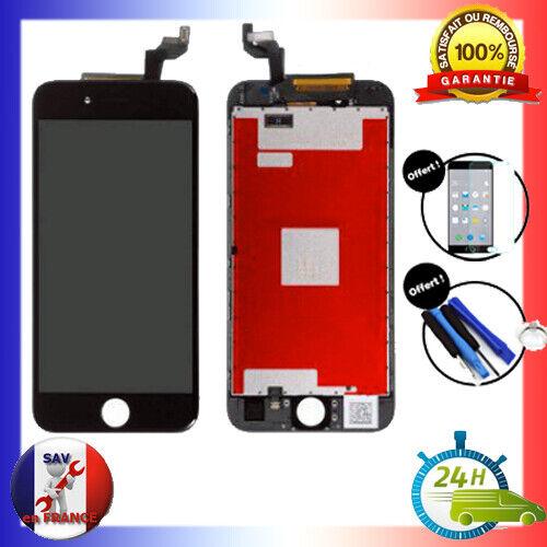 VITRE TACTILE & ECRAN LCD RETINA S/ CHASSIS IPHONE 6S NOIR + OUTILS + VERRE 24H