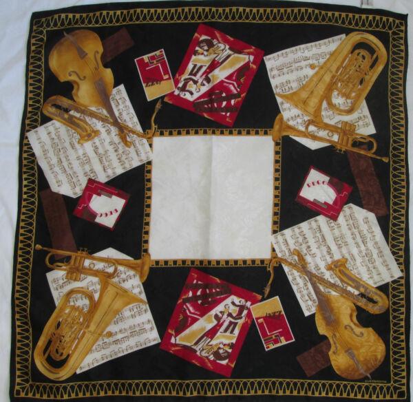 -authentique Foulard Liz Claiborne Tbeg Vintage Scarf Originale Al 100%
