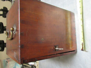 ANTIQUE BECK empty WOOD CUSTODIA circa 1890 OLD MICROSCOPE PART AS PICTURED