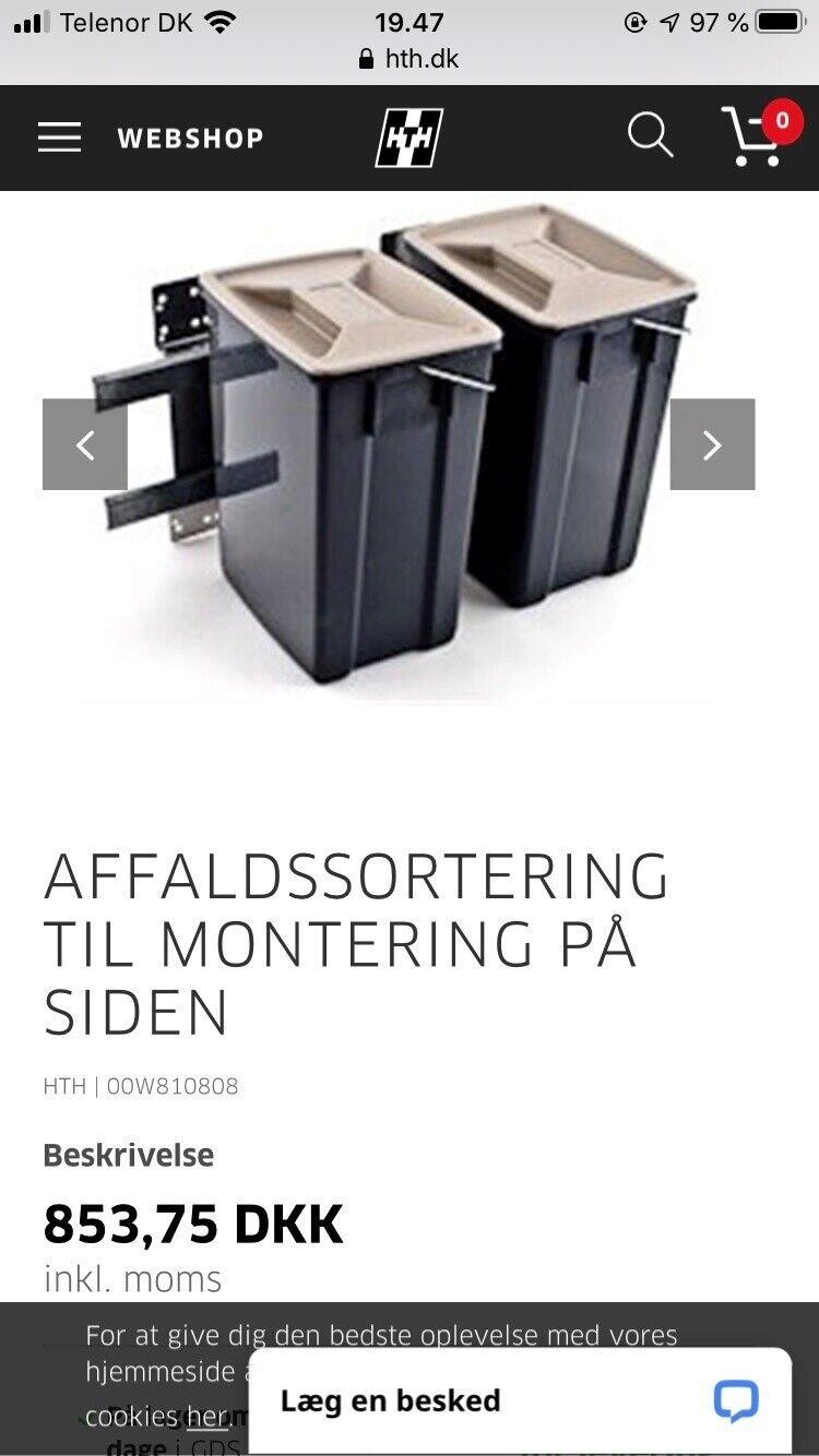 Picture of: Affaldsstativ Hth Affaldssortering Dba Dk Kob Og Salg Af Nyt Og Brugt
