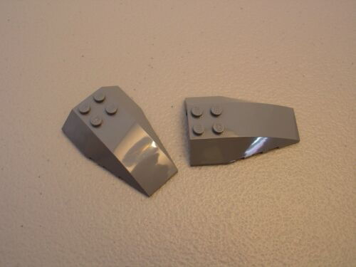 LEGO NEW Dark Bluish Gray Wedge 6x4 Triple Curved Lot x2 Brick Slope Parts 43712