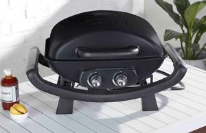 Nexgrill Fortress 2 Burner Portable BBQ with Hotplate