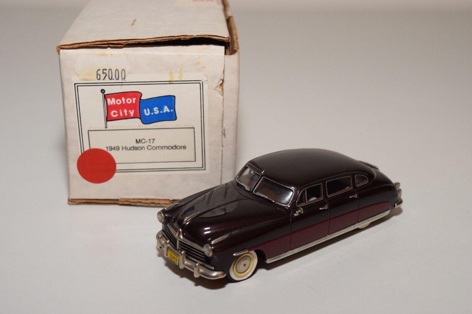 vendite online D MOTOR città MC-17 MC 17 1949 HUDSON COMMODORE TWO TWO TWO TONE MAROON MINT scatolaED RARE  incentivi promozionali