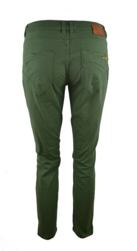 MOS MOSH OLIVE GREEN SEQUIN EMBROIDERED POCKET ANKLE LENGTH TROUSERS JEANS RARE