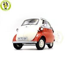 112 Bmw Isetta Kengfai Diecast Model Car Toys Boys Girls Gifts White Orange