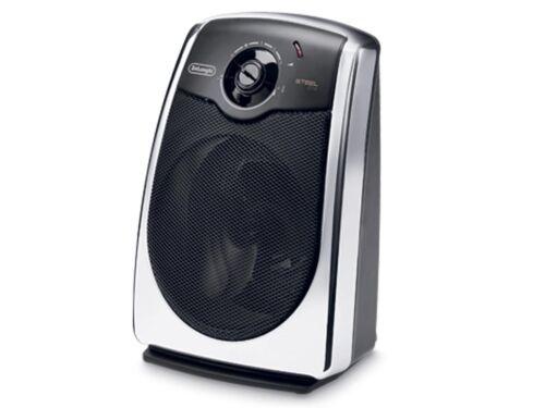 Delonghi HVS3032W HVS3032C Steel Elite Fan Heater 2400W White Chrome