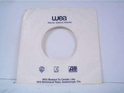 Music Smart 2-wea Canadian Record Company 45's Sleeves Lot #214-a