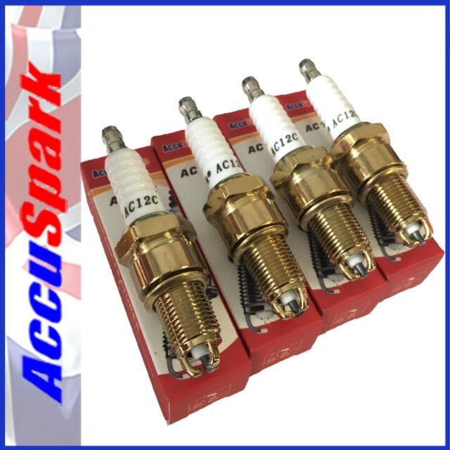 AccuSpark AC12C Spark Plugs BP5ES / N12Y N12YC x4