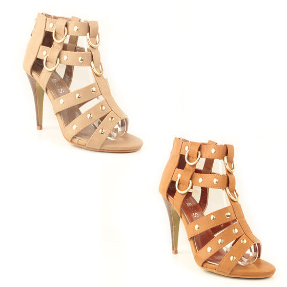 WOMENS GLADIATORS HIGH STILETTO HEEL ANKLE SIZE SANDALS LADIES SHOES NEW SIZE ANKLE 3-8 05b27d