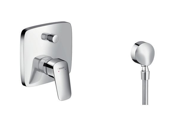Hansgrohe Logis Wannen 71405000 UP Armatur Bad Dusch Set Fix Fit E 27505000