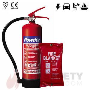 NEW-4-KG-DRY-POWDER-FIRE-EXTINGUISHER-1M-x-1M-FIRE-BLANKET