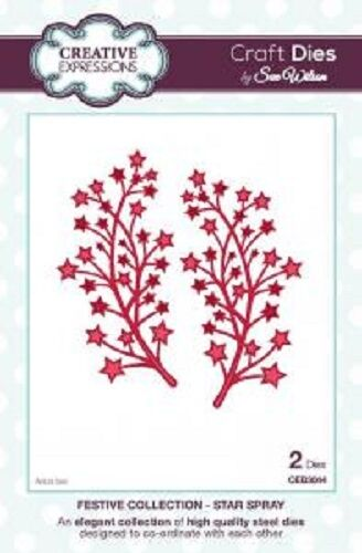 CREATIVE EXPRESSIONS Sue Wilson FESTIVE COLLECTION Star Spray CED3044