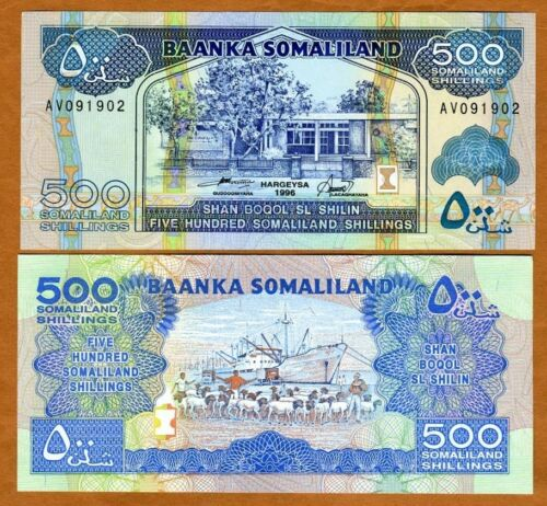 1996 500 shillings P-6 Somaliland 6b UNC