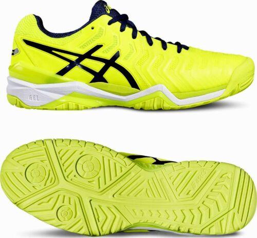industria Adquisición Impermeable  Scarpe Tennis Uomo Asics E701Y 0749 Gel-Resolution 7 Yellow/Blue/White  Clothing