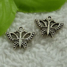 free ship 260 pieces tibet silver butterfly charms 19x15mm #2942