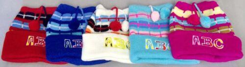 Wck3207^* ABC Baby Toddler Kids Beanies Winter Caps 6 Pc Lot