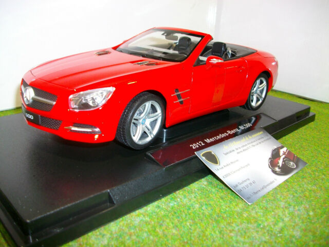 MERCEDES BENZ SL 500 cabriolet 2012 rouge o 1/18 WELLY 18046CW voiture miniature