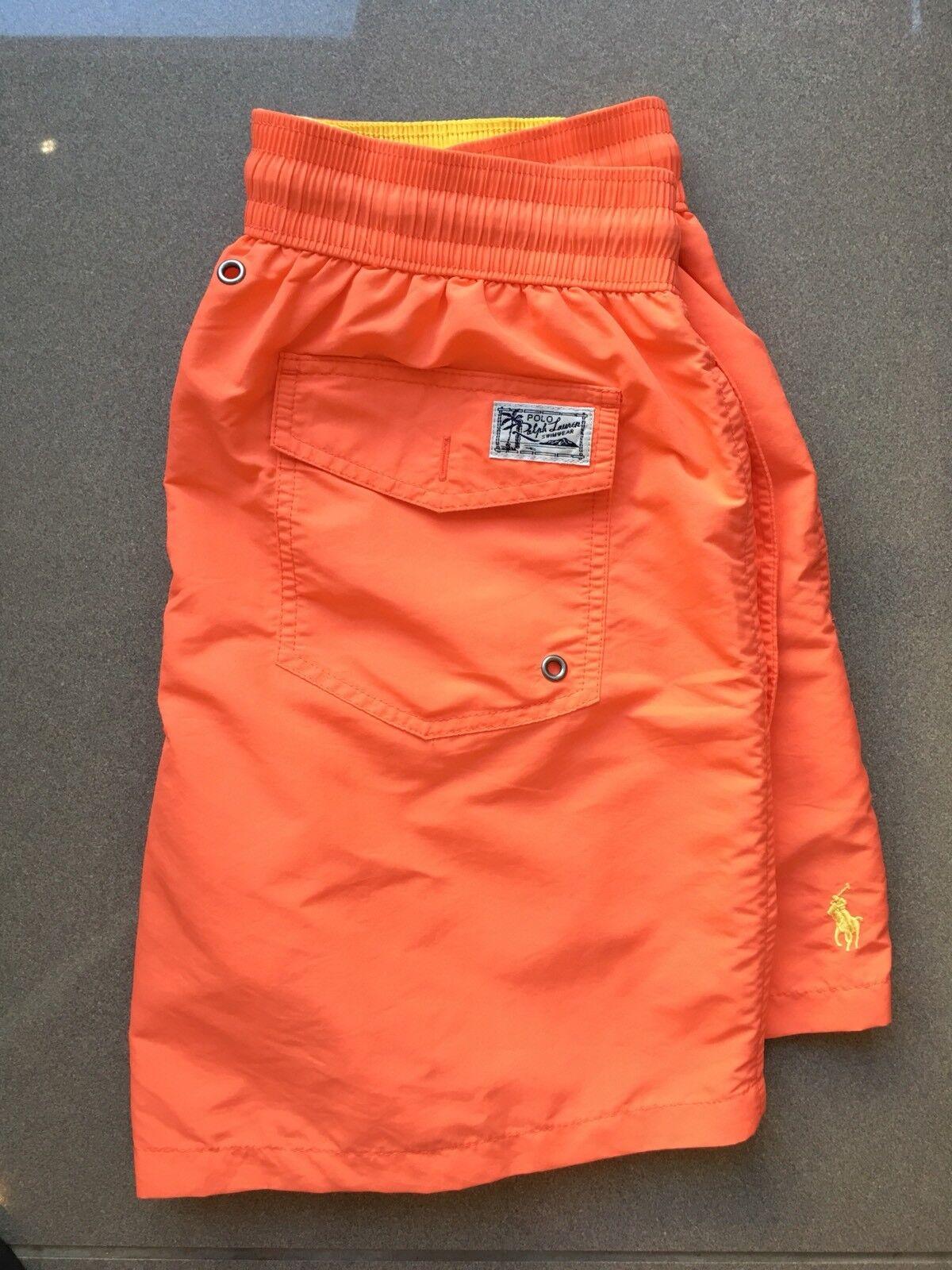 Polo Ralph Lauren Swim Shorts Traveler Trunk Electric Melon Size S or M