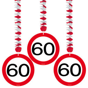 60TH-BIRTHDAY-PARTY-SET-3-HANGING-DECORATIONS-AGE-TRAFFIC-SIGN