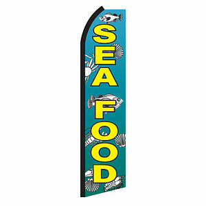 FRESH PRODUCE Advertising Sign Swooper Feather Flutter Banner Flag Only