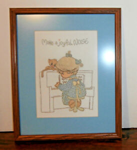 Make-a-Joyful-Noise-Finished-Framed-Embroidery-12-034-x-15-034-Precious-Moments