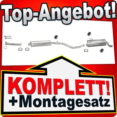 Auspuff PEUGEOT 206 1.6 90PS Schrägheck 1998-2000 Rohr Auspuffanlage 953