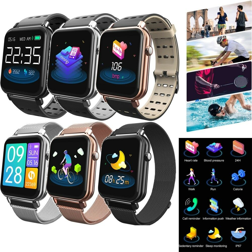 Fitness Tracker Bluetooth Smart Watch Phone Mate for Samsung S10/S10+/S10e A9 A8 bluetooth Featured fitness for mate phone samsung smart tracker watch