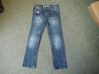 "Cherokee Slim Fit Jeans Waist 26"" Leg 23"" Faded Dark Blue Boys 8/9 Yrs Jeans"