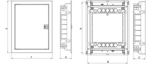 Boîte de raccordement Réservoir Boîte à fusibles 3-Reihig 36te ip40 blanche porte