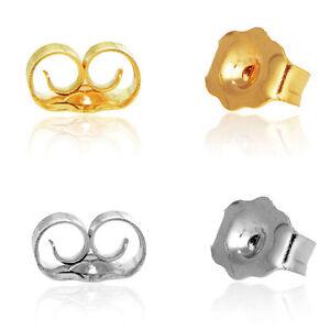 Image Is Loading 14k Yellow White Gold Push Back Earring