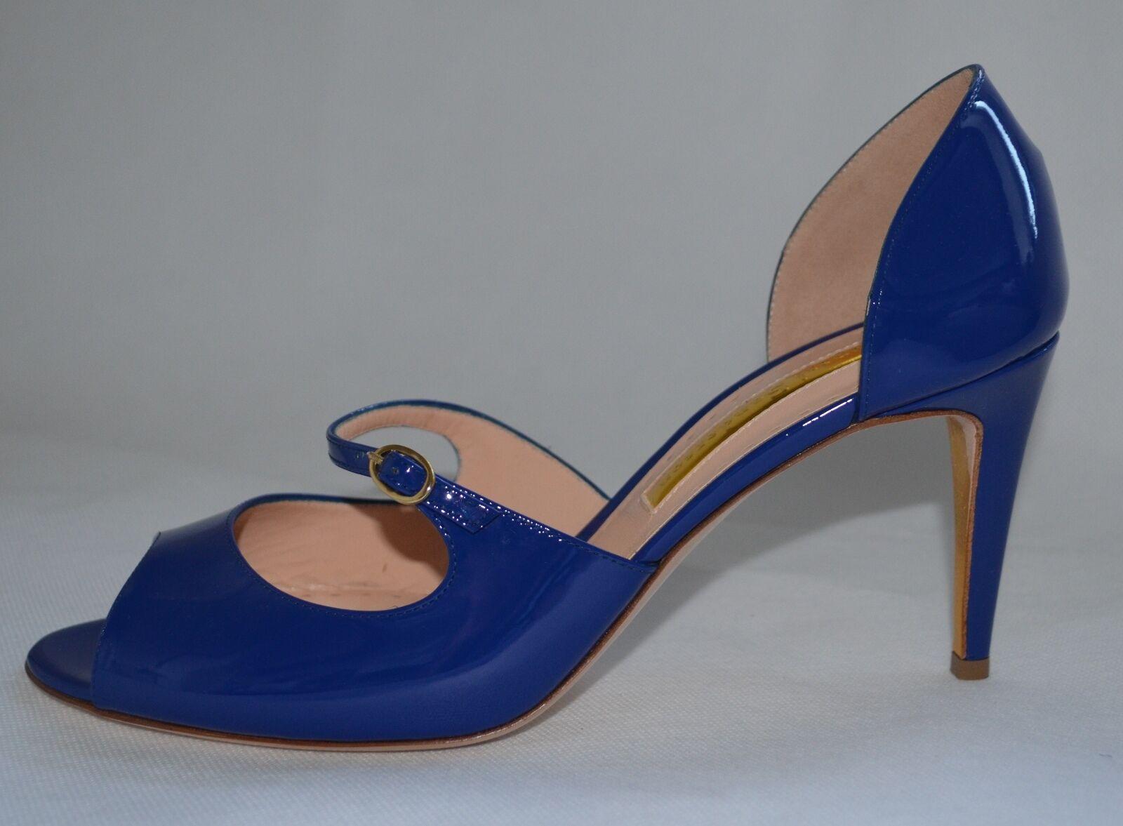 Clearance Rupert Sanderson  blå läder Sandals UK8 UK8 UK8  EU41  mode galleria