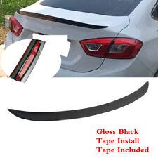 Fit For Chevrolet Cruze 2017 2019 Sedan Black Trunk Lip Spoiler Wing Reflector Fits Cruze