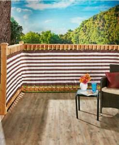 15 Pieds Marron Imperméable Porche Patio Deck & Clôture Intimité Filet Écran