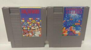 Dr-Mario-Tetris-Lot-Nintendo-NES-Game-Rare-Tested-Works-Authentic-Original