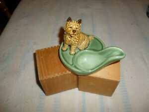 Details about WADE POTTERY ENGLAND PIPE HOLDER REST w CAIRN TERRIER  Vintage-WITH PIPE Exc