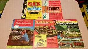 HO-Scale-Vintage-How-to-Build-Layouts-Scenery-and-Structures-Books-Lot-of-5
