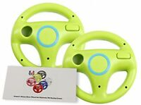 Gh Wii U Wii Steering Wheel Yoshi Green For Racing Games, Mario Kart Racing 2