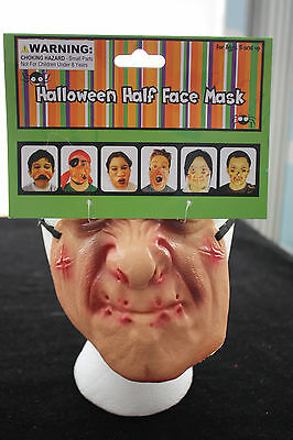Funny Adult Gag-LATEX HALF FACE MASK-Poker Halloween Costume Masks Party