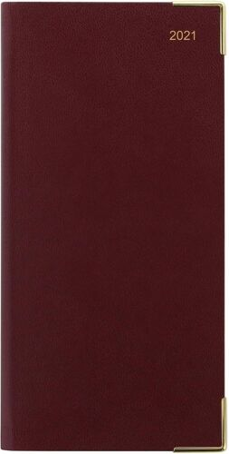 Bookmark 3 Colours Letts 2021 Diary Classic Slim Week to View Appointments