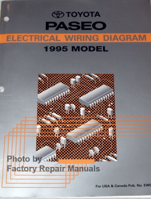 1995 Toyota Paseo Electrical Wiring Diagrams Original