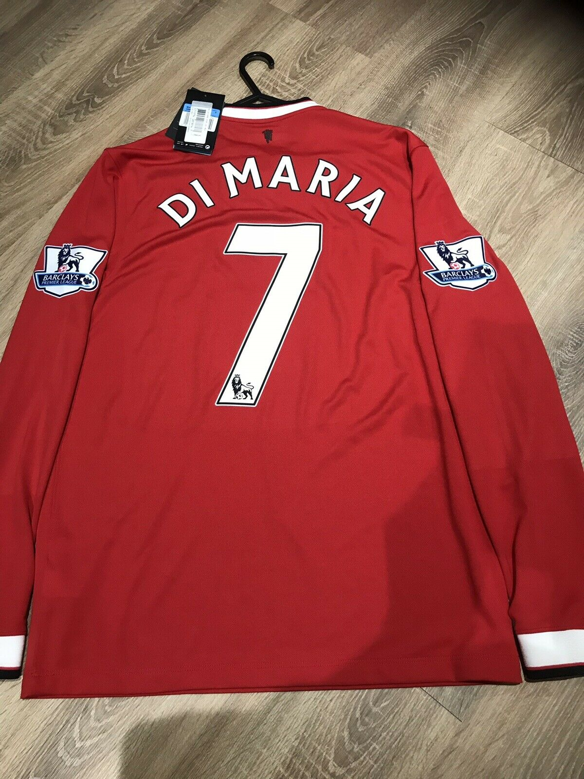 MANCHESTER UNITED 14 15 HOME SHIRT NEW LONG SLEEVES ADULTS(M) 7 DI MARIA