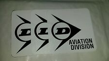 092 Dunlop Aviation Iron On Vinyl Patch - 3 Unused - Aeropsace Wheels & Brakes