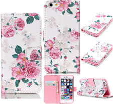 Pastoral Flower Rose Peony wallet slot flip Case cover for PHONE Samsung/iPhone