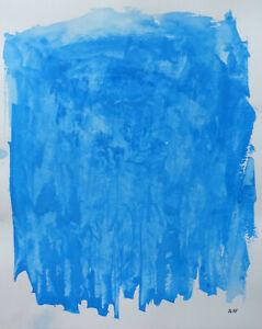 Joseph Iliu (1914-1999) Grande Composition Abstraite Gouache Sur Papier (88) 100% De MatéRiaux De Haute Qualité