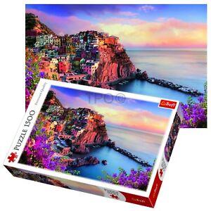 Trefl 1500 Piece Adult Large View Manarola Italy Bay Jigsaw Puzzle NEW Zagadki i łamigłówki Puzzle