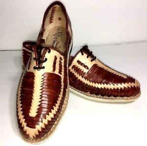 b9e3f44a3b24 Image is loading Mens-Leather-Mexican-huarache-Dress-casual-shoe-Sandal-