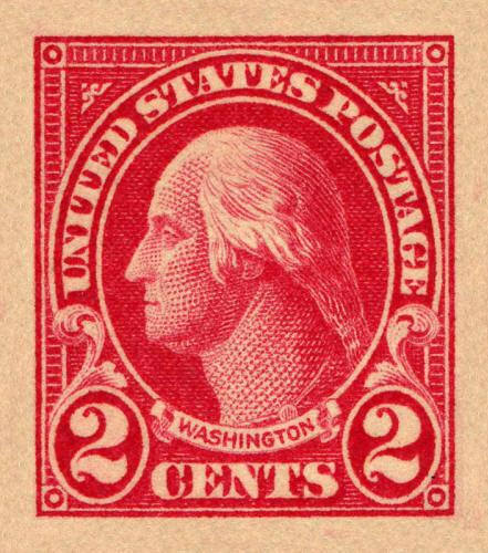 1923 2c George Washington, Carmine, Imperforate Scott 5