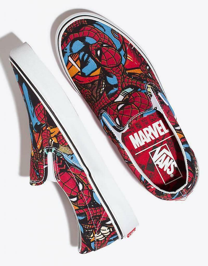 vans US Classic Slip-on MARVEL SPIDERMAN US vans UNISEX SIZES VN0A38F79H7 cc5e04