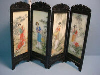 Dollhouse Miniature Privacy Screen Chinese Women S8131 Aztec Imports 1/12th